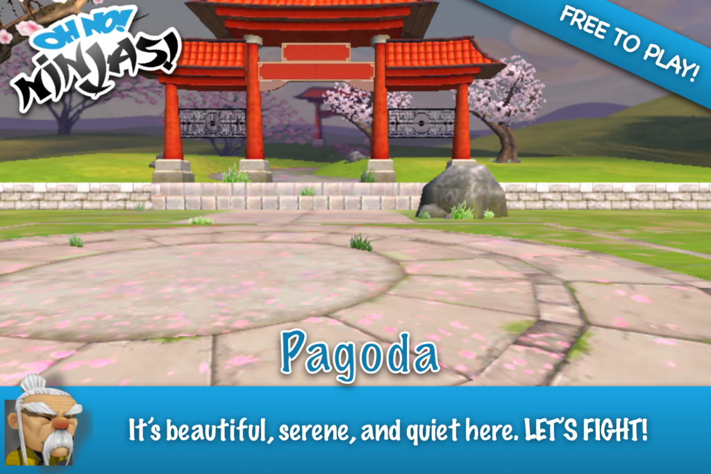 The Pagoda Arena: It's beautiful, serene, and quiet here. LET'S FIGHT!